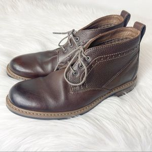 Bostonian 16501 Leather Boots Men's Size 9 Brown